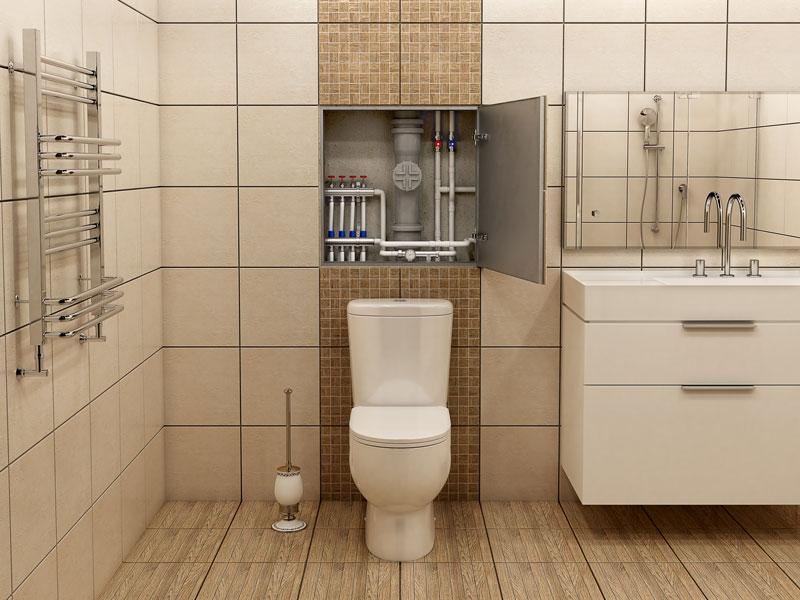 výměna stoupaček ve zrekonstruovaných koupelnách